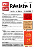 RESISTE N° 7 Juin 2013
