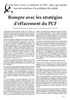 Texte Alternatif n°3- Un Parti résolument communiste dans l'affrontement de classe Sans abandon, ni effacement !