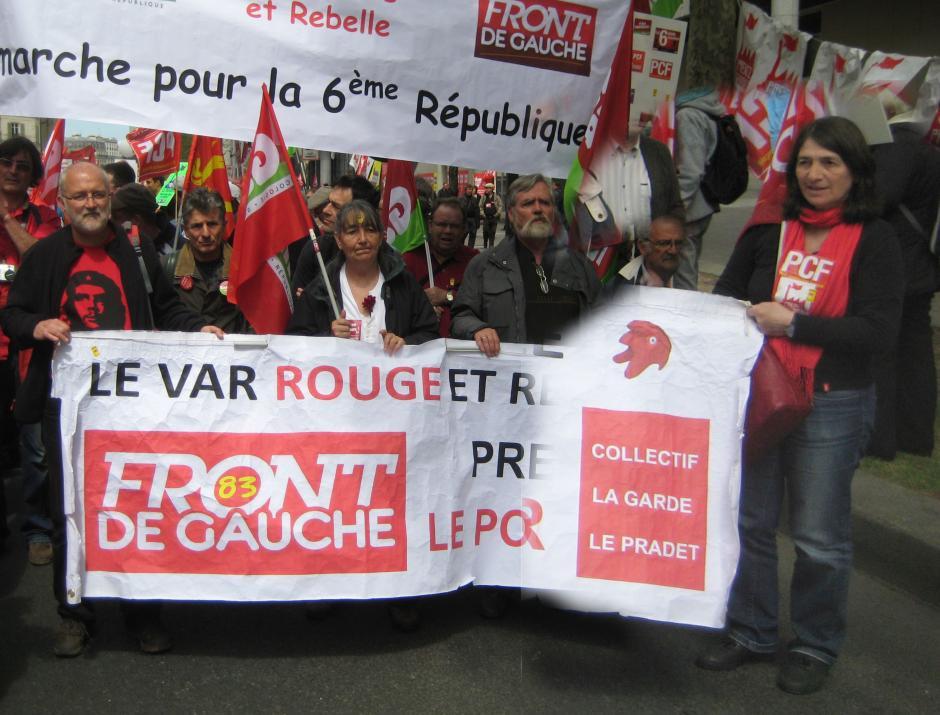 Le collectif local FDG présent parmi les 180000 manifestants du 5 mai