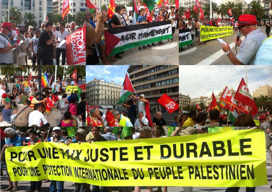 PCF: Mettre sous protection internationale le peuple Palestinien