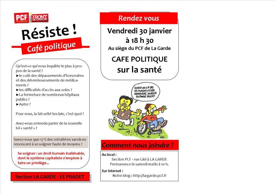 Vendredi 30 janvier 18h30 (13 rue Giel LA GARDE)