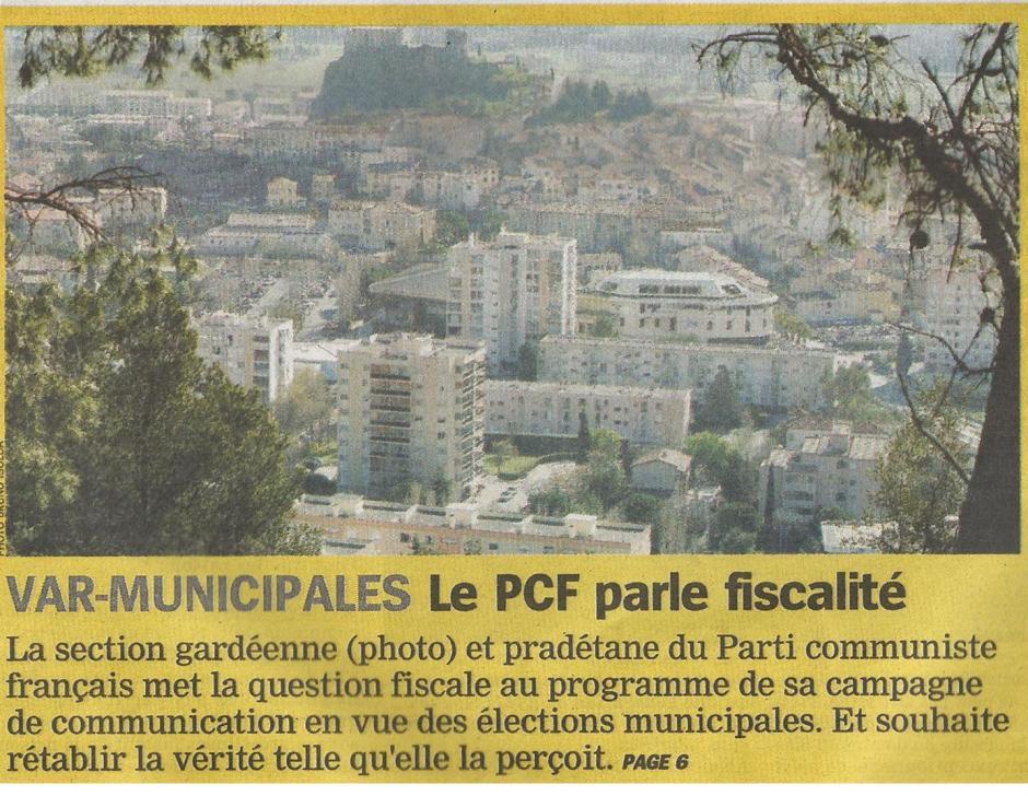 La Marseillaise - Le PCF La Garde Le Pradet parle fiscalité