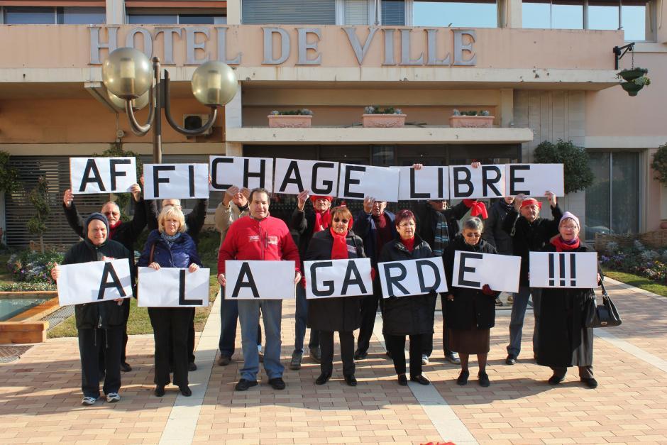 Pour le respect de la liberté d'expression à La Garde; Face à face FDG maire UMP, Le préfet demande au maire de respecter la loi