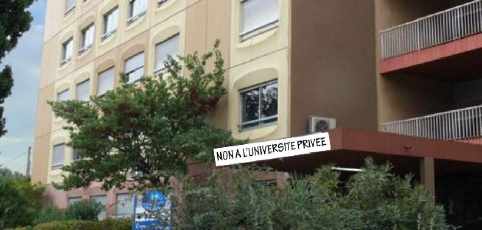 Université privée Pessoa à La Garde Exigeons : -la fermeture de cet établissement privé -l'abrogation de la loi LRU -des moyens pour l'enseignement supérieur public